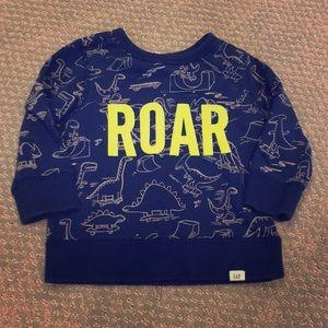 "GAP ""ROAR"" Dinosaur Sweatshirt"
